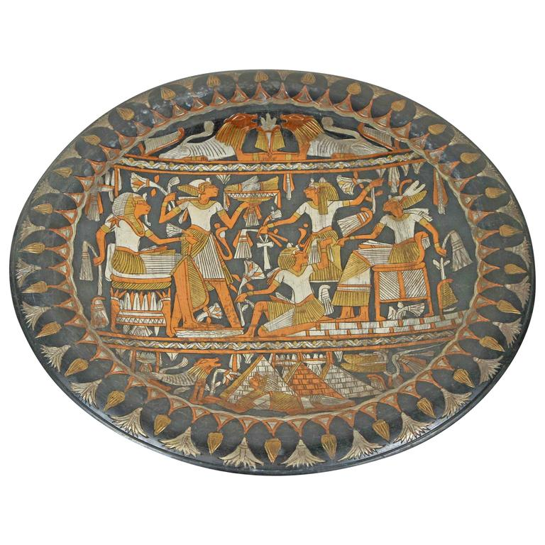 Egyptian Hanging Platter Tray