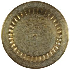 Hanging Round Polished Brass Decorative Tray