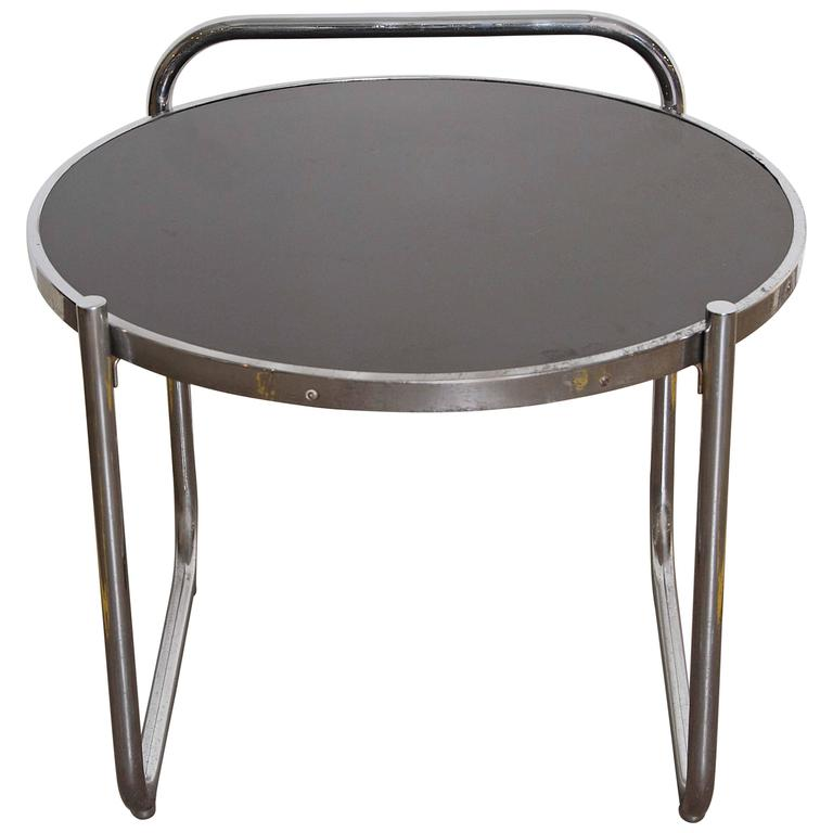 Gilbert Rohde Streamline Metal Occasional Table For Troy
