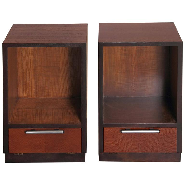 Gilbert Rohde Herman Miller Art Deco 1933 World's Fair Nightstands Matched Pair