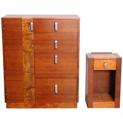 Uncommon Gilbert Rohde for Herman Miller, 1933 Series Valet and Nightstand