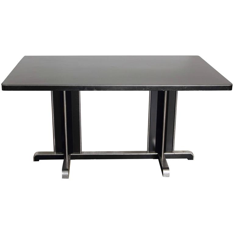 Uncommon Gilbert Rohde Attribution Dining Table for Doehler Metal Furniture Co.