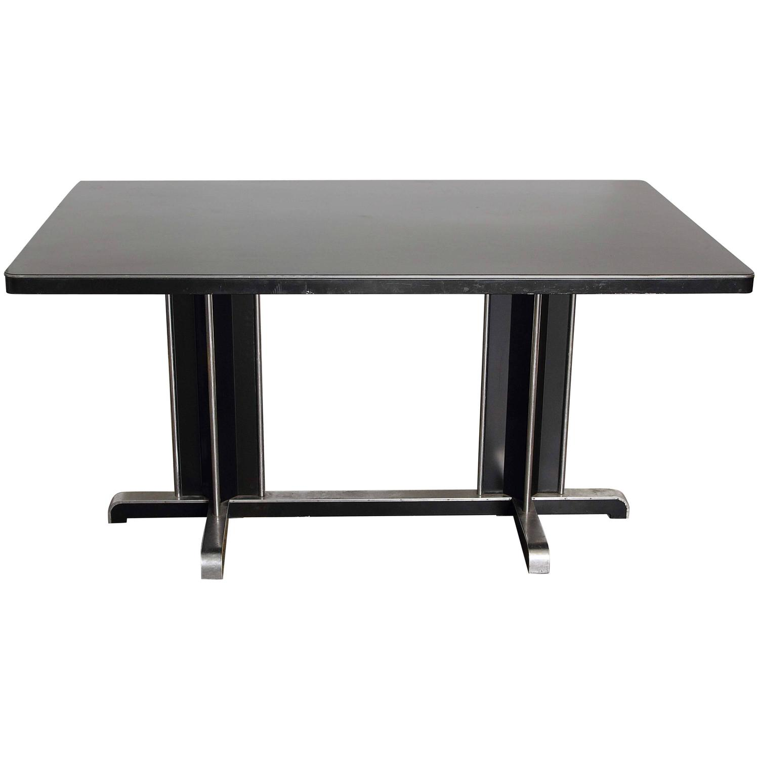 Uncommon Gilbert Rohde Attribution Dining Table For