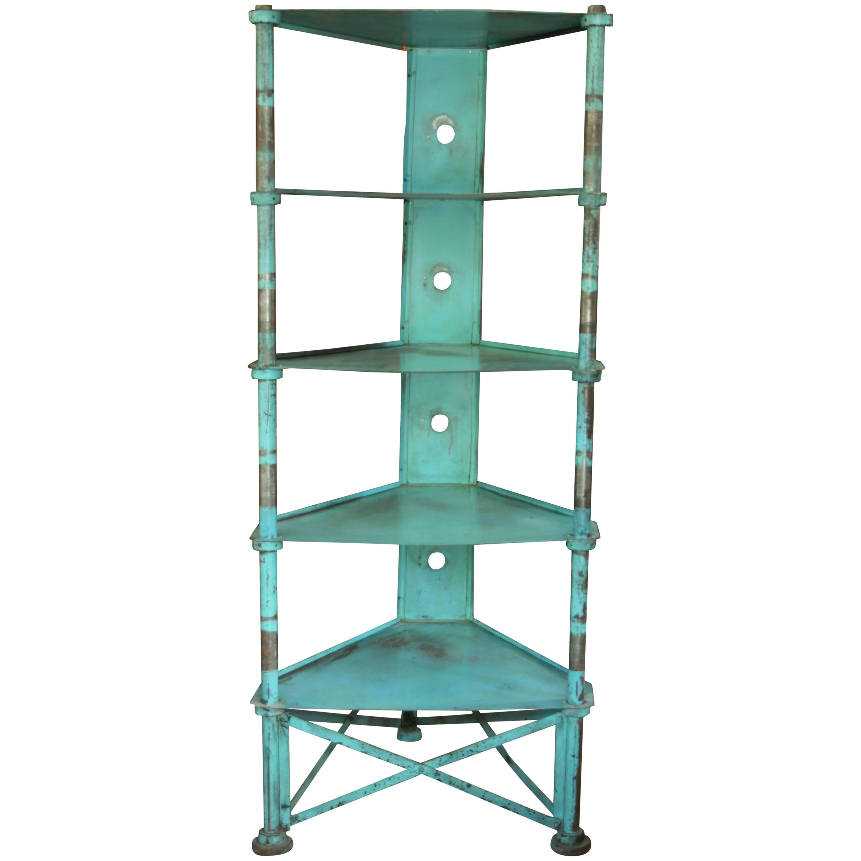 1970s Tubular Chrome and Glass Etagere For Sale at 1stdibs