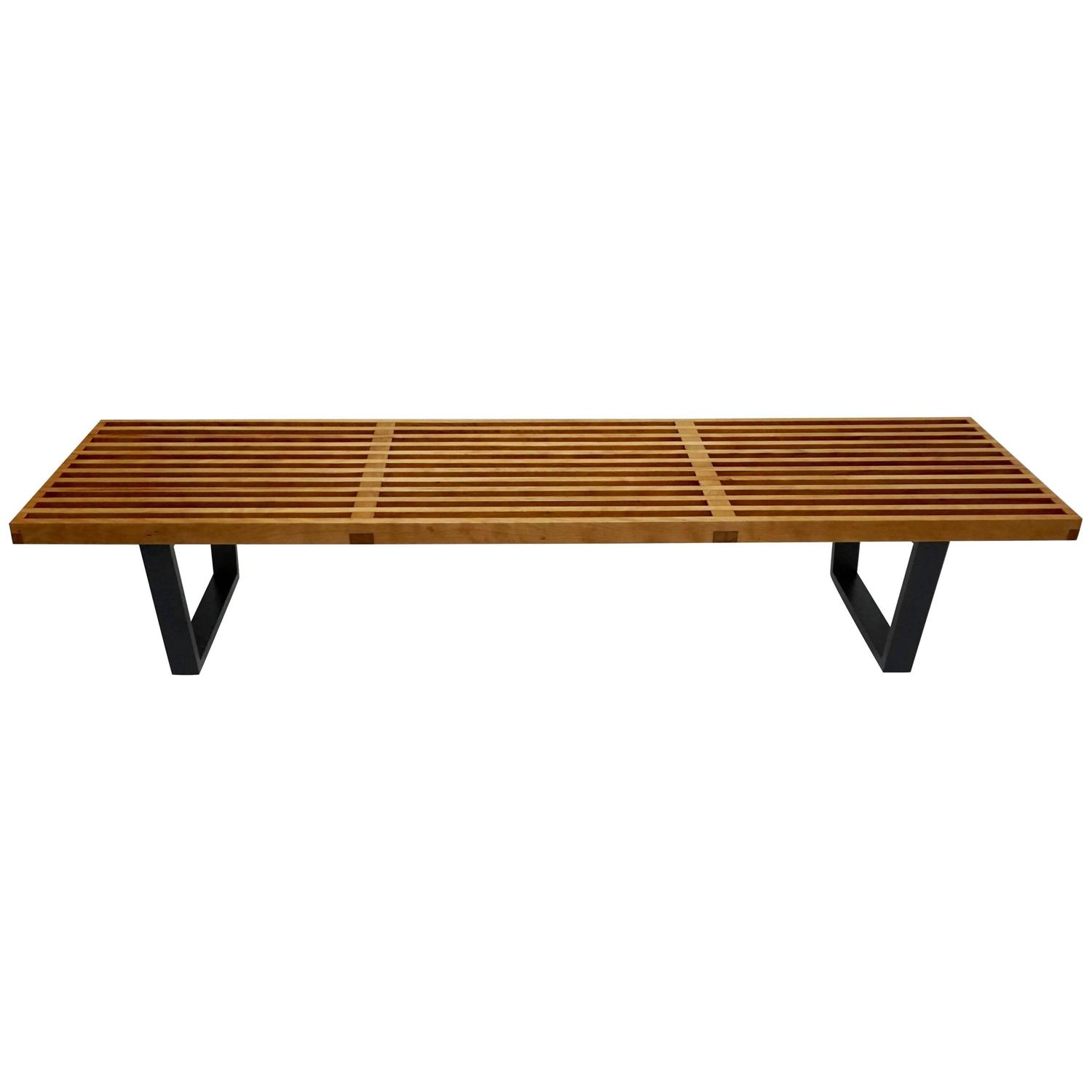 George Nelson Slat Bench At 1stdibs