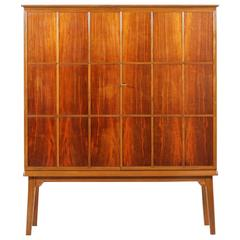 Beautiful Walnut and Beech Double Doors Cabinet, 1947