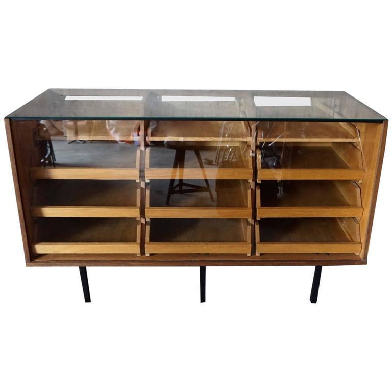 Vintage German Haberdashery Cabinet / Shop Counter, 1950s at 1stdibs