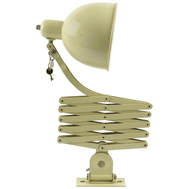 Christian Dell Scissor Retractable Wall Lamp Sconce for Koranda, Austria, 1933 For Sale at 1stdibs