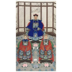Chinese Ancestral Portrait 19th Century