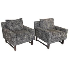 Pair of 20th Century Modern Club Chairs