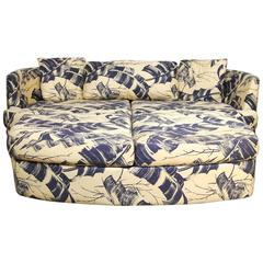 Selig Mid-Century Kidney Sofa and Ottoman