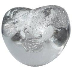"Timo Sarpaneva  Rare, Glass Vase 'Devil's Pearl"" 1955 for Iittala, Signed"
