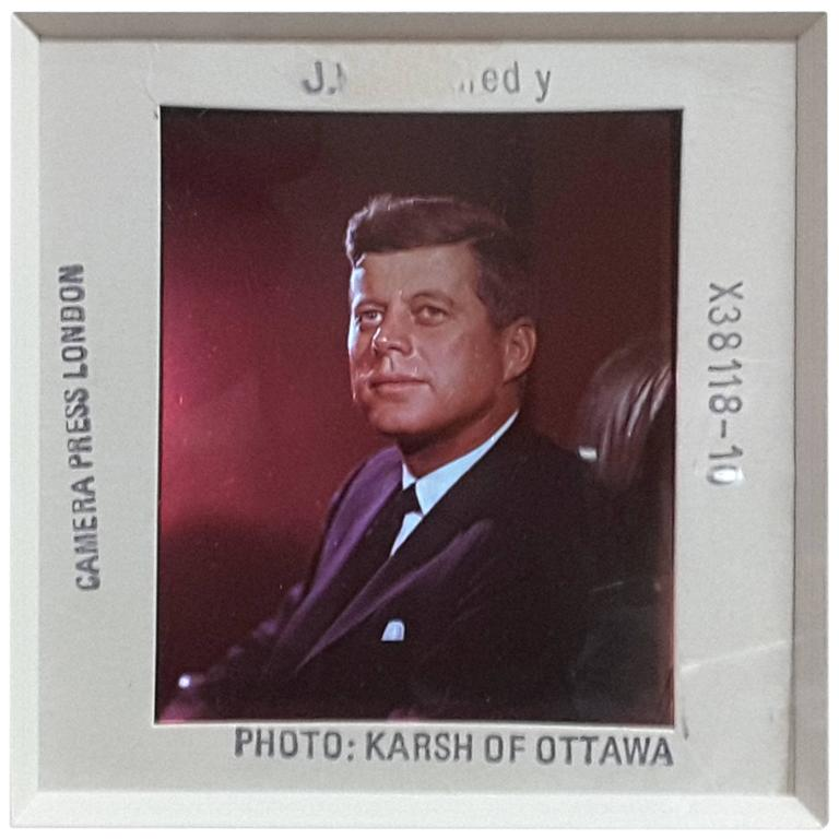 JF. Kennedy Color Pic/Slide by Yousuf Karsh World Renowned Portrait Photographer