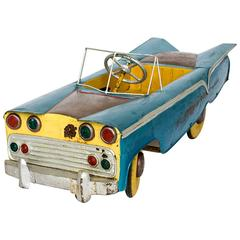 Unusual Burmese Painted Model Pedal Car, circa 1950s -1960s Childs Toy