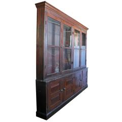 Antique American Department Store Wood Cabinet