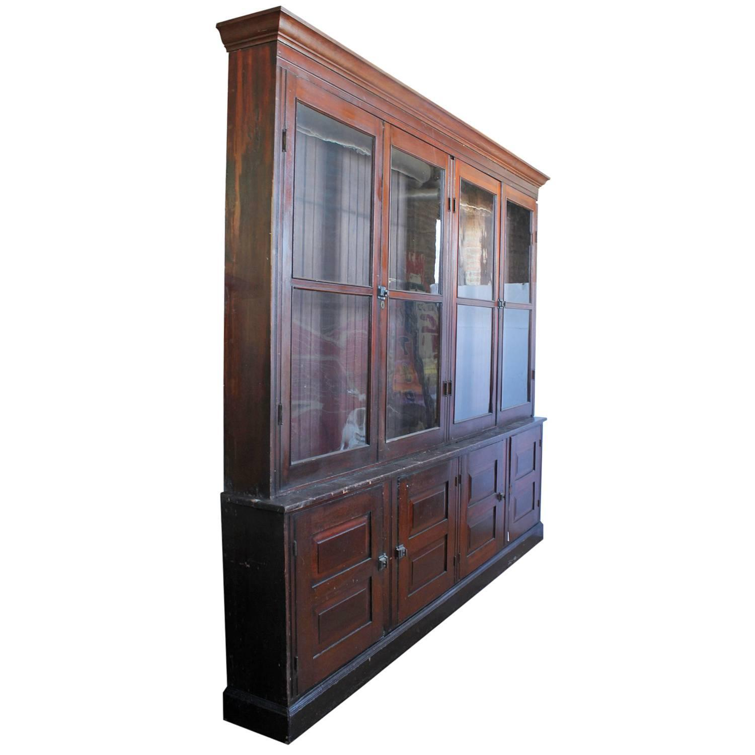Antique american department store wood cabinet at 1stdibs - Cabinet recrutement agroalimentaire ...