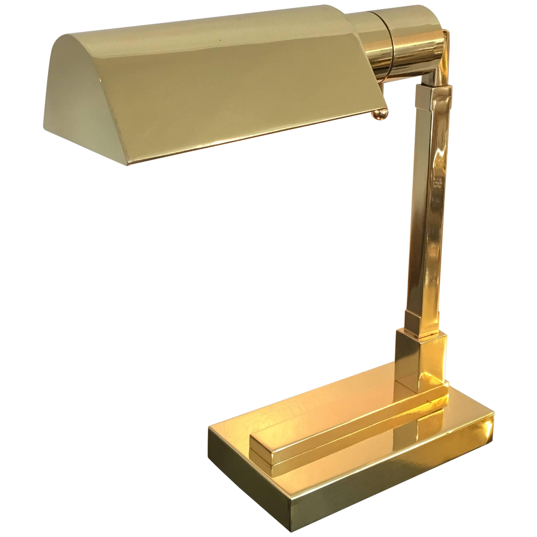 Polished Brass Desk Lamp by Casella