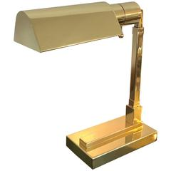 Polished Brass Desk Lamp by Casella