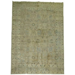 20th Persian Tabriz Room Size 8 x 10 Rug in Brown Blue