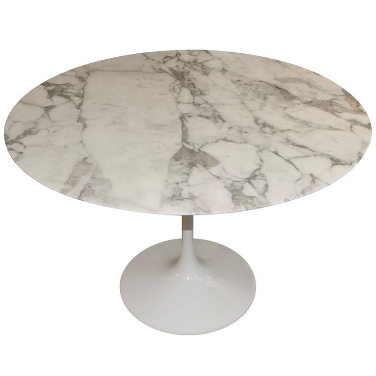 Knoll Eero Saarinen Tulip Tulip Table With Marble Top 1