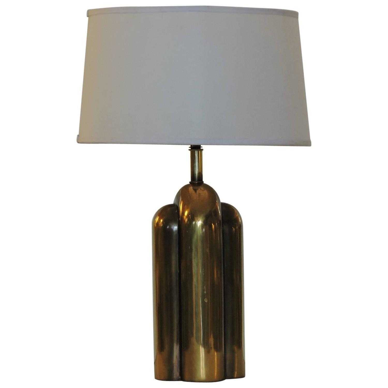 Westwood Lighting: Art Deco Style Streamlined Brass Lamp By Westwood