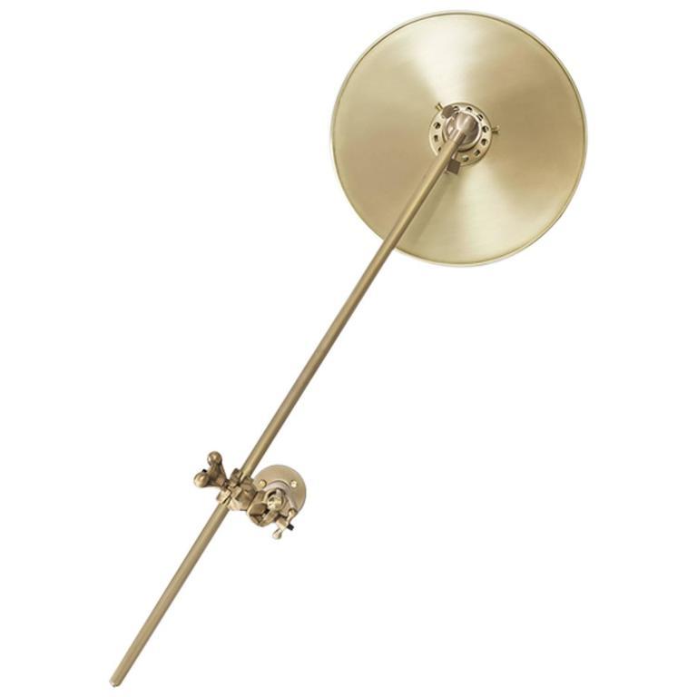 Adjustable Brass Wall Lamp with Plug