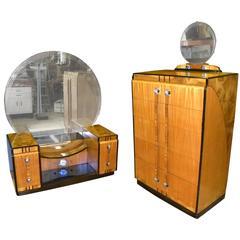 Art Deco Bedroom Suite, Leo Jiranek Streamline Design, Fit for a Queen
