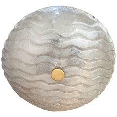 Kalmar Glass 1960s Flush Ceiling Light