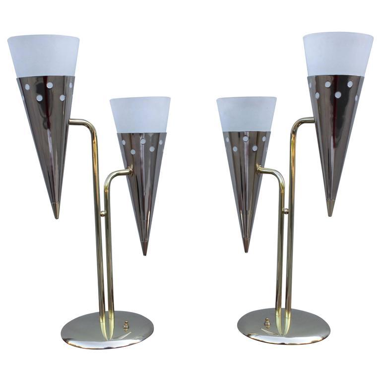 1950s Modern Italian Brass Table Lamps at 1stdibs