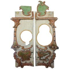 Antique Carnival Hand-Carved and Hand-Painted Ride Doors