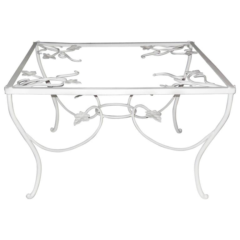 Coffee Table, Salterini Vintage Wrought Iron Mt Vernon Table