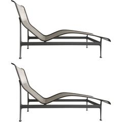 Pair of Richard Schultz Four Leg Contour Lounge Chairs for Knoll