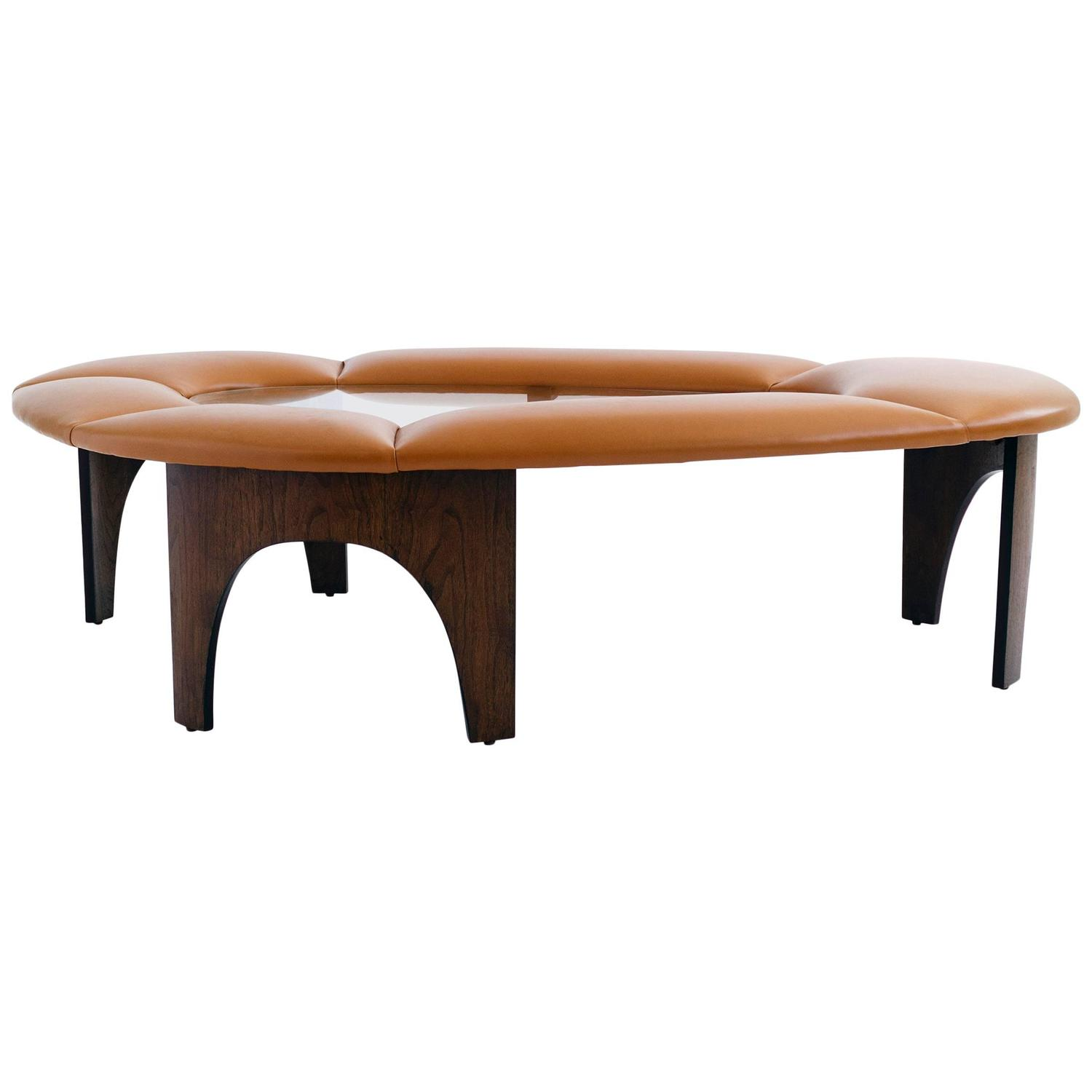 Padded Coffee Tables Large Scale Upholstered Coffee Table For Sale At 1stdibs Morton