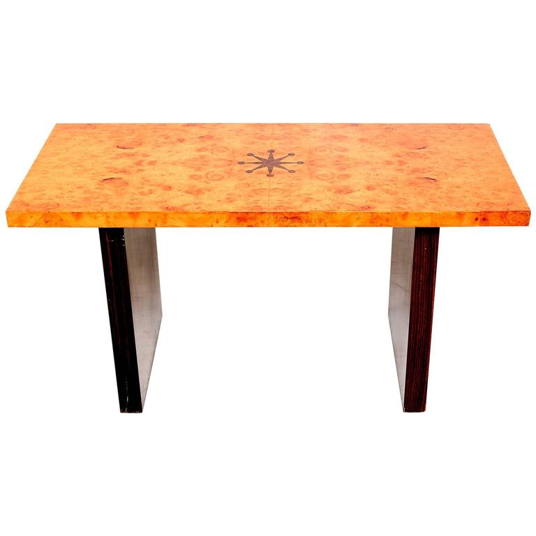 Andrew Szoeke Coffee Table Burl and Macassar