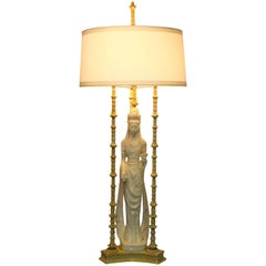 1950s Quan Yin Table Lamp