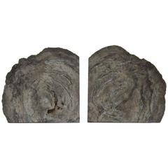Pair of Vintage Grey Geode Bookends