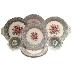 "Vintage English Royal Albert ""Enchantment"" 8-Piece China Set"