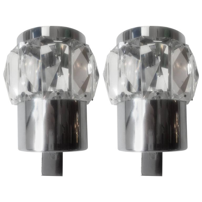 Pair of German 1960s Space Age Wall Lights