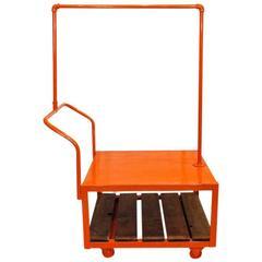 Kitson Rolling Display Cart, Orange