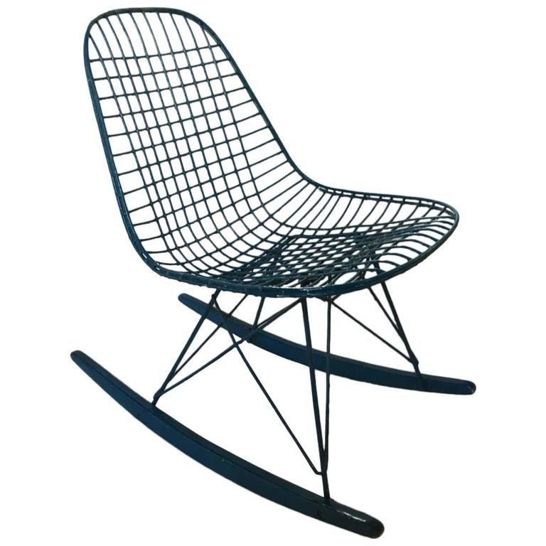 original charles eames rocking chair 1950 for sale at 1stdibs. Black Bedroom Furniture Sets. Home Design Ideas