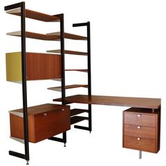 George Nelson for Herman Miller CSS Desk and Wall Unit Combo