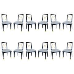 Set of Twelve Robert & Mito Block Chairs