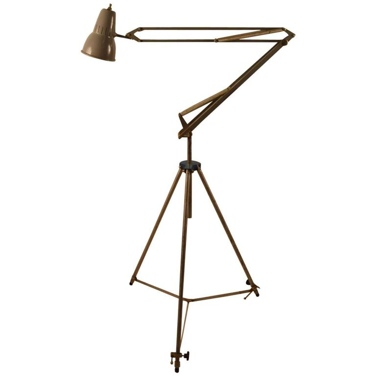 Adjustable Industrial Angle Poise Lamp By Luxo At 1stdibs