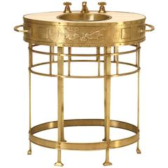 French Bathroom Vanity, or Jardiniere, circa 1900