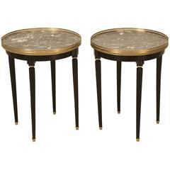 Louis XVI Style Ebonized End or Side Tables