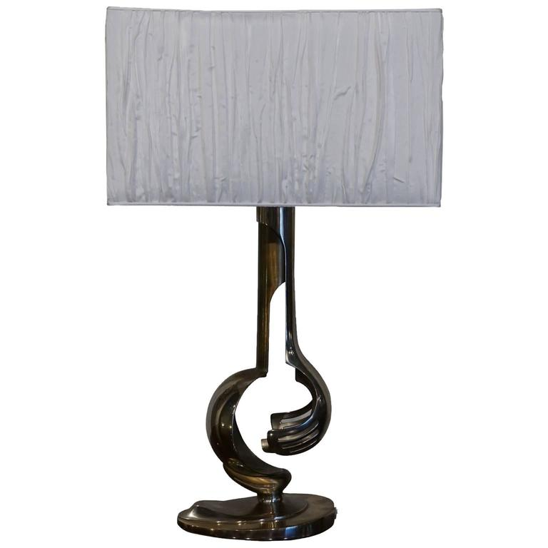 mid century modern italian chrome table lamp for sale at 1stdibs. Black Bedroom Furniture Sets. Home Design Ideas