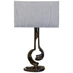 20th Century Italian Chrome Table Lamp