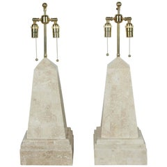 Pair of Obelisk Lamps by Maitland-Smith