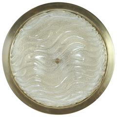 Textured Glass Flush Mount by Doria