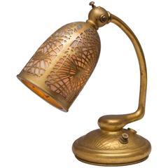 Tiffany Studios Gilt Bronze Pine Needle Desk Lamp